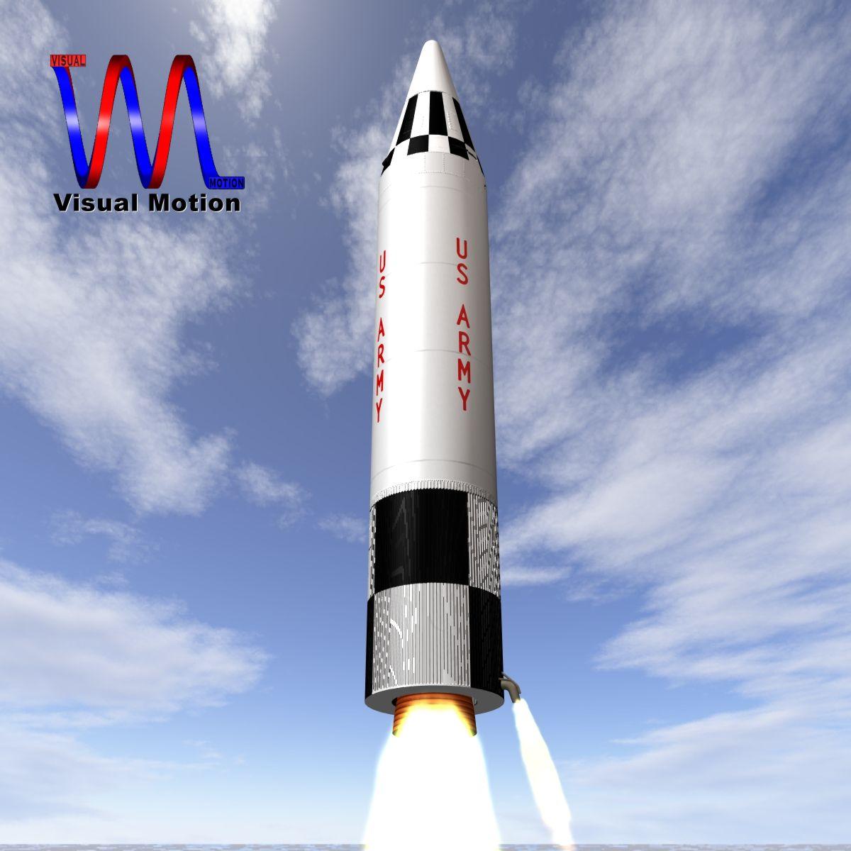 us army jupiter missile 3d model 3ds dxf x cod scn obj 149780