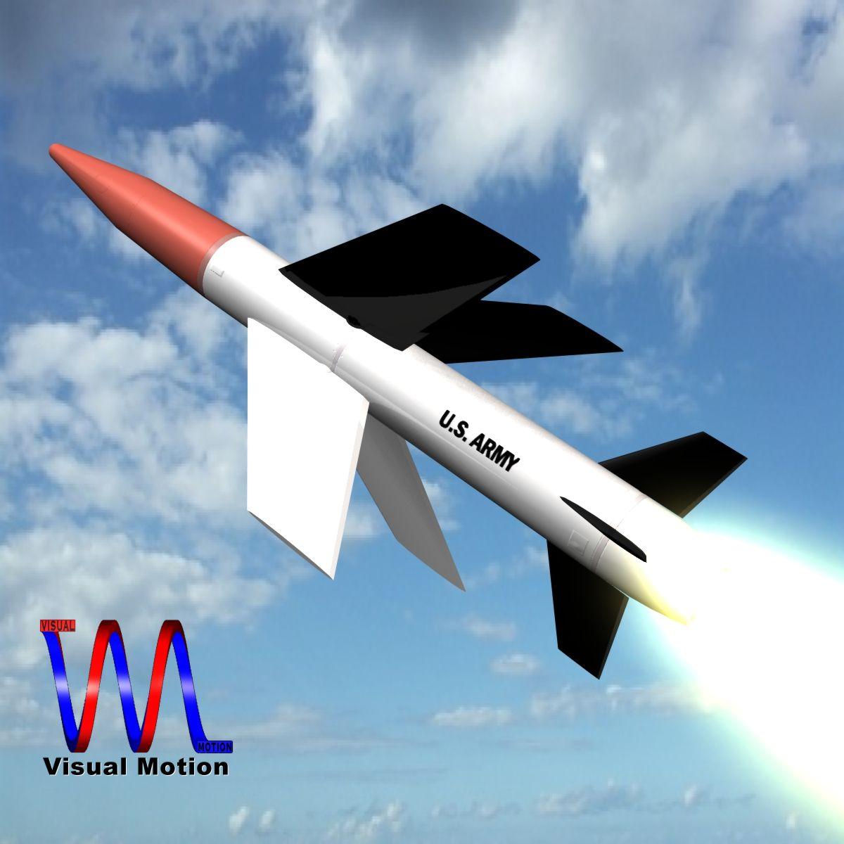 us mgm-18a raketa za lakros 3d model 3ds dxf cob x drugi obj 136516