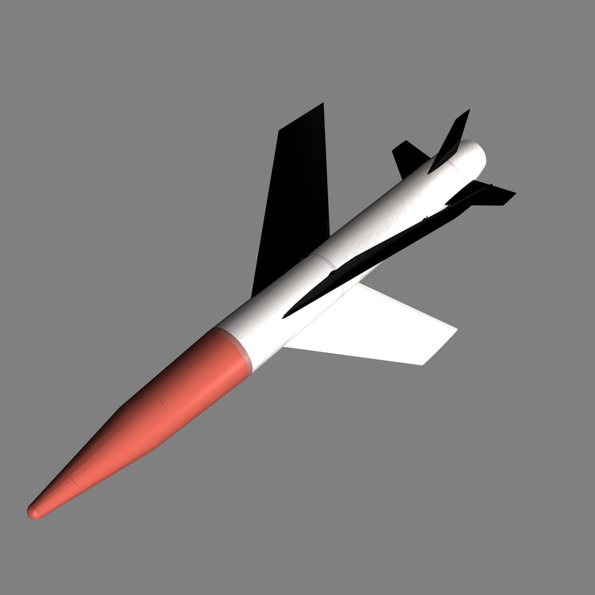us mgm-18a raketa za lakros 3d model 3ds dxf cob x drugi obj 136517