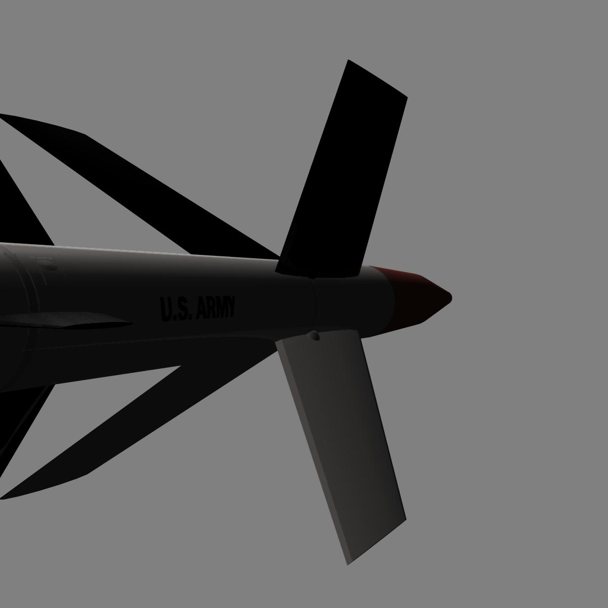 us mgm-18a raketa za lakros 3d model 3ds dxf cob x drugi obj 136521