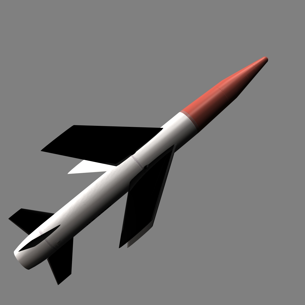 us mgm-18a raketa za lakros 3d model 3ds dxf cob x drugi obj 136522