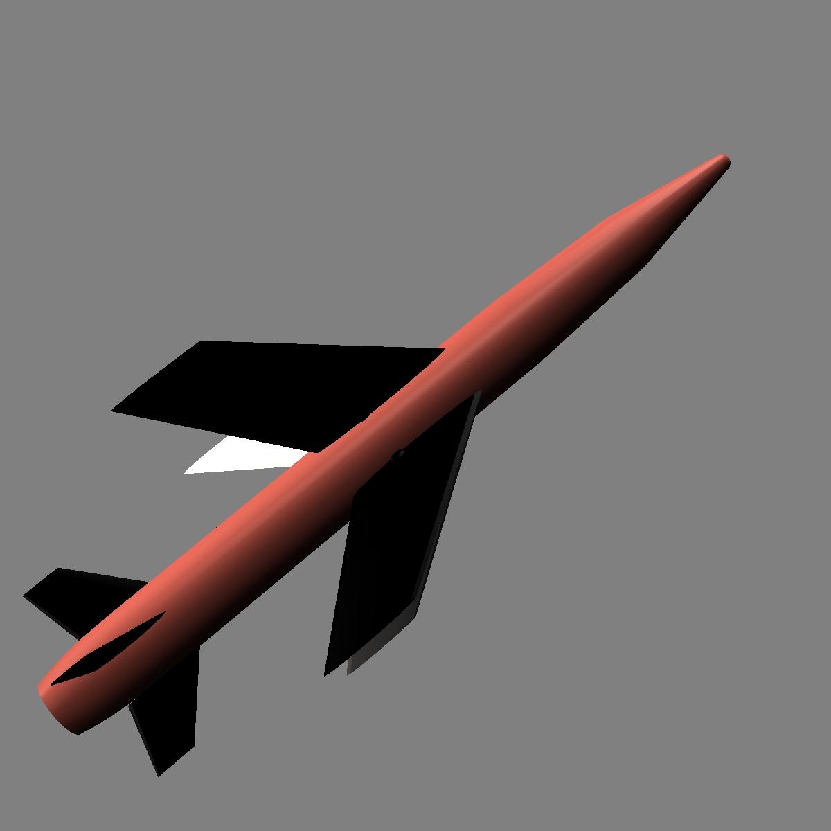us mgm-18a raketa za lakros 3d model 3ds dxf cob x drugi obj 136523