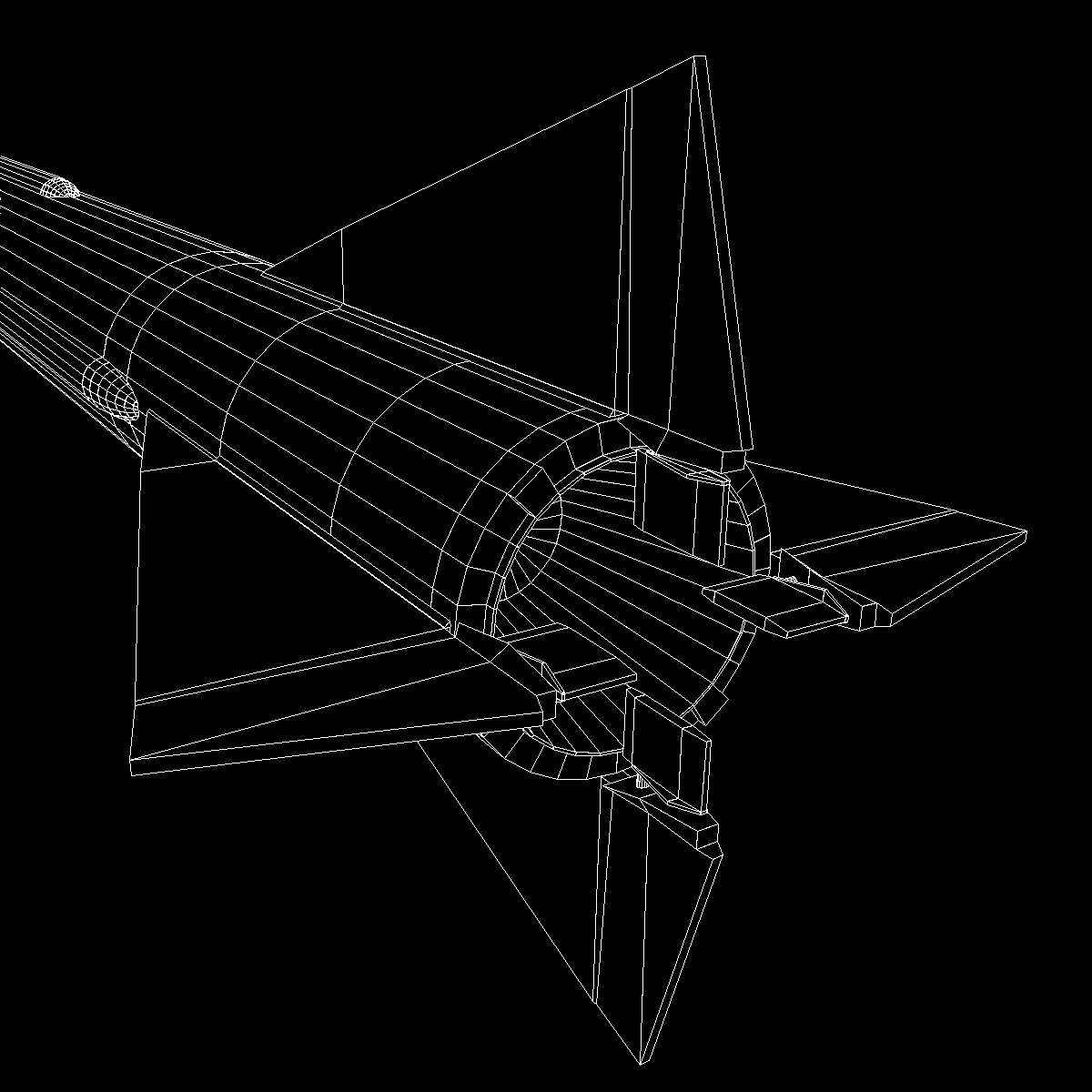 us mgm-5 corporal missile 3d model 3ds dxf x cod scn obj 149920