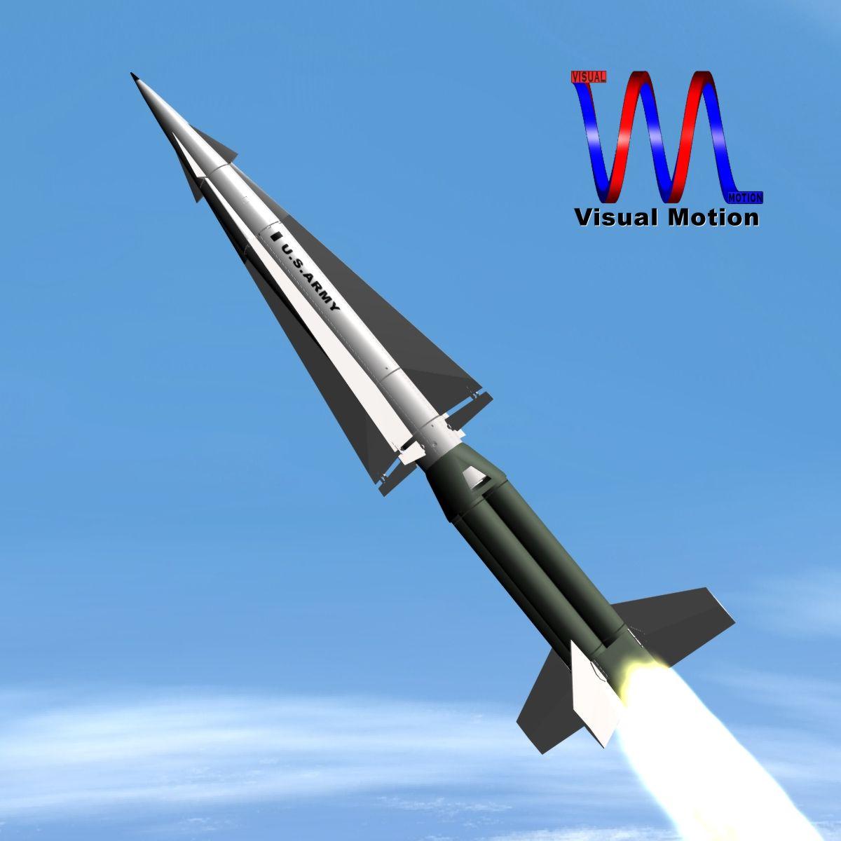 АНУ-ын пуужингийн пуужин 3d загвар 3ds dxf cob x obj 150340