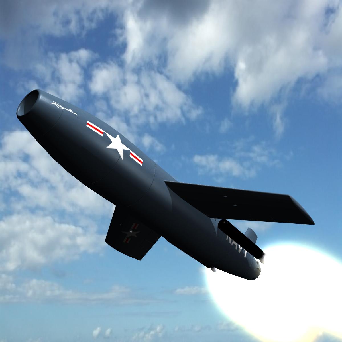 nas ssm-n-8 regulus i krstareća raketa 3d model 3ds dxf x cod scn obj 149255