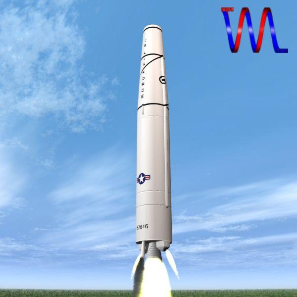 us thor irbm raketa 3d model 3ds dxf cob x obj 150759