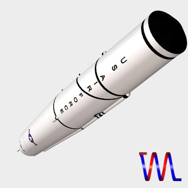 us thor irbm missile 3d model 3ds dxf cob x obj 150761