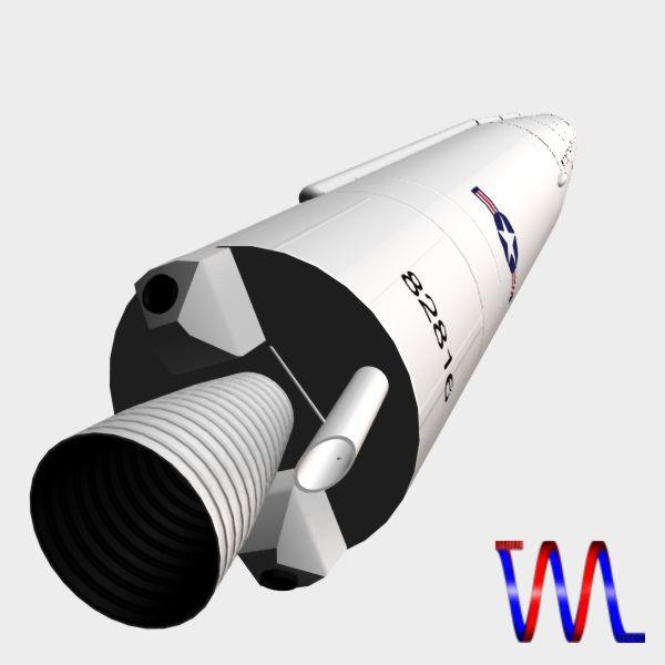 us thor irbm missile 3d model 3ds dxf cob x obj 150763