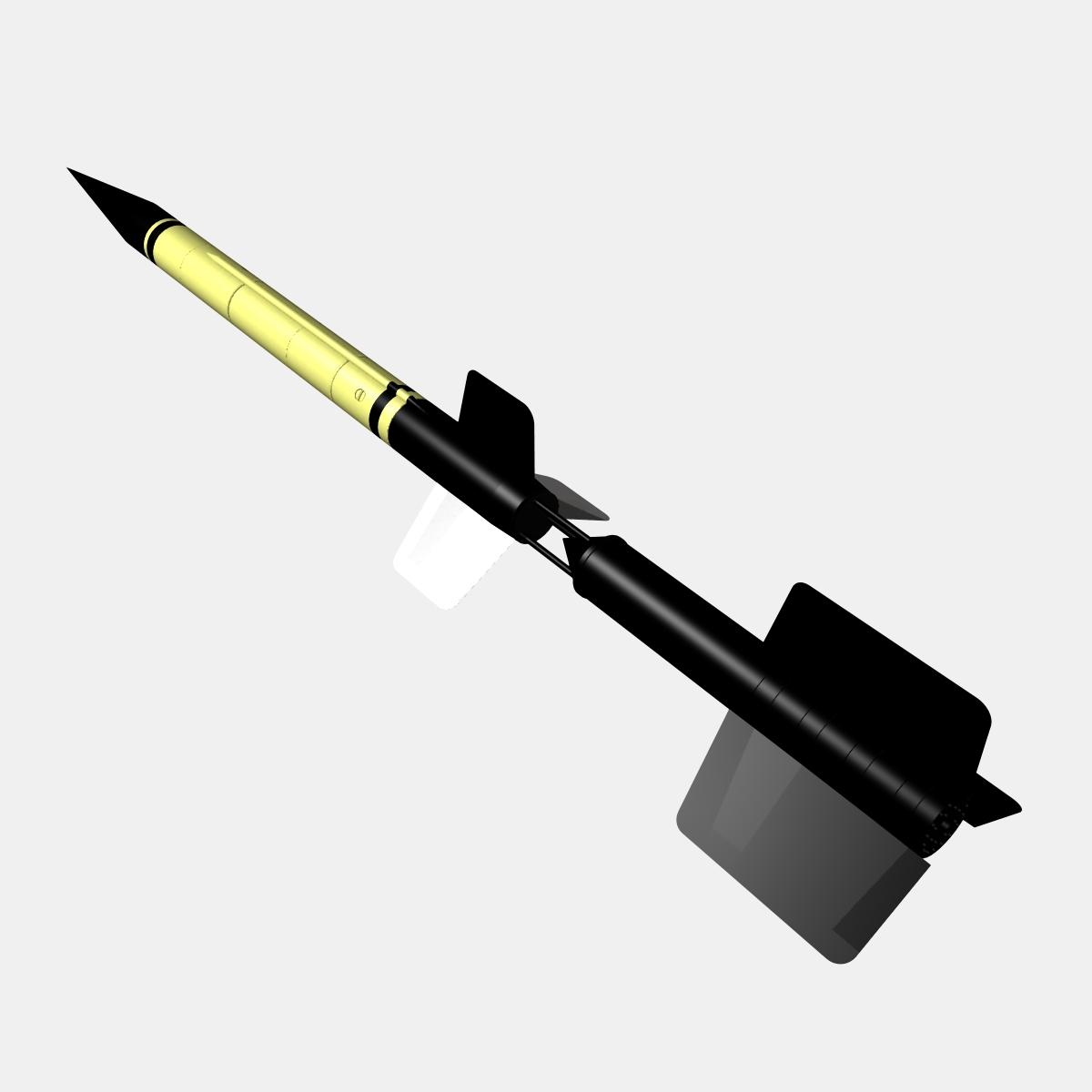 us wac corporal rocket 3d model 3ds dxf x cod scn obj 149606