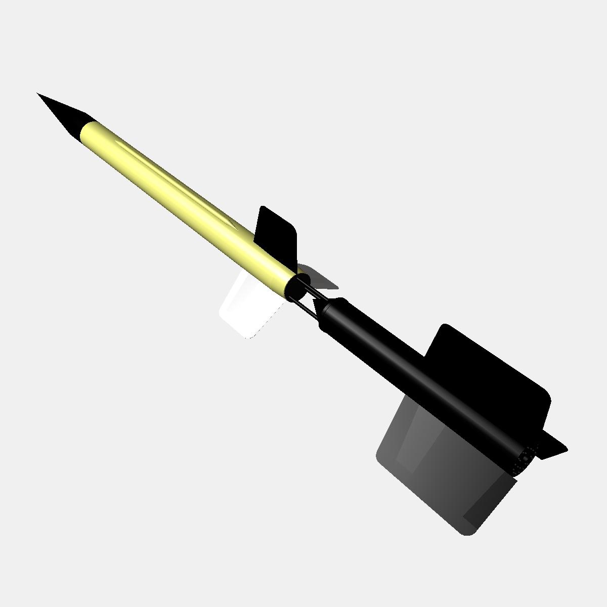 us wac corporal rocket 3d model 3ds dxf x cod scn obj 149621