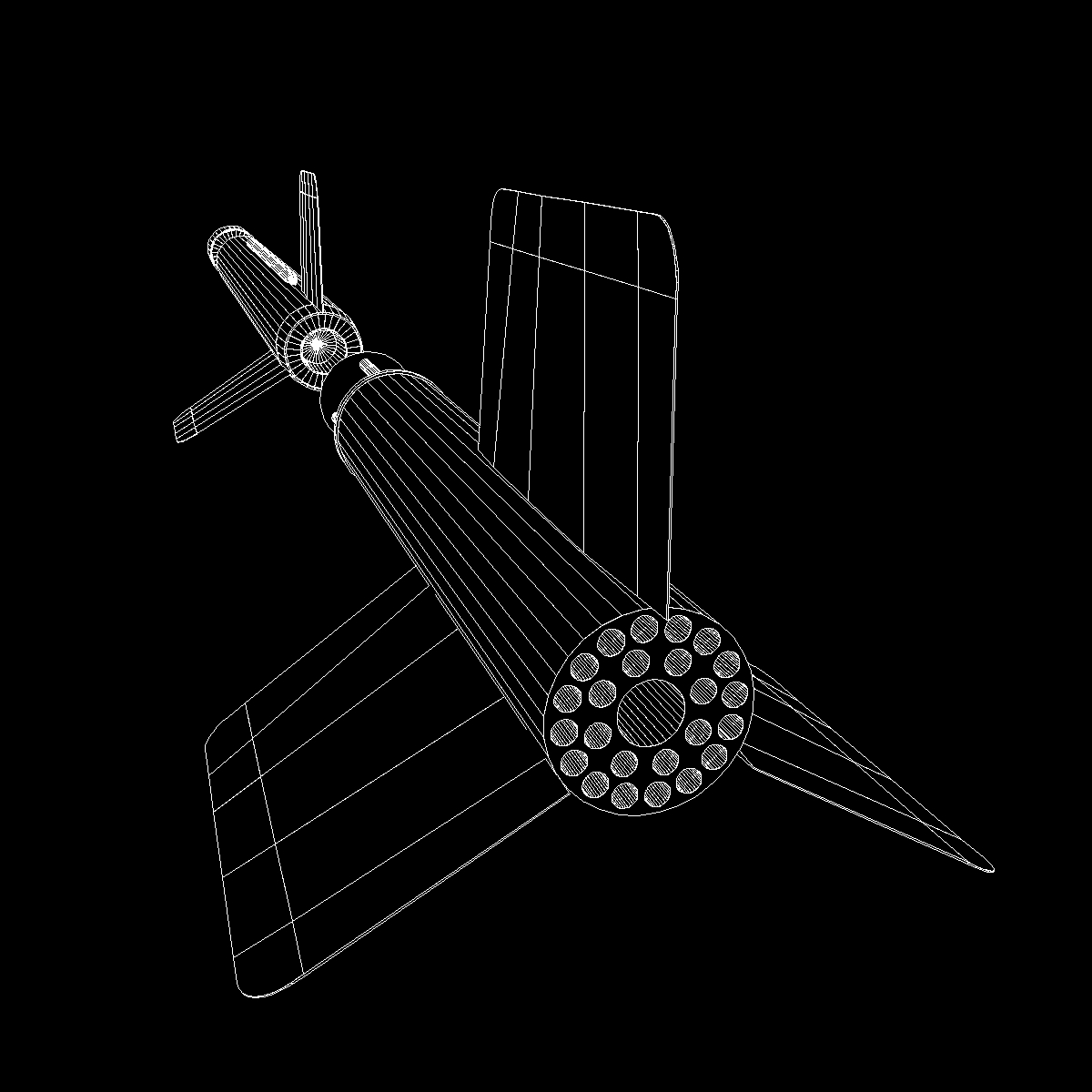 us wac corporal rocket 3d model 3ds dxf x cod scn obj 149628