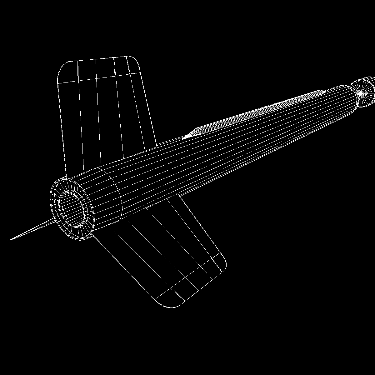 us wac corporal rocket 3d model 3ds dxf x cod scn obj 149629