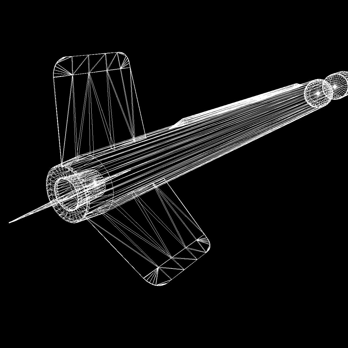 us wac corporal rocket 3d model 3ds dxf x cod scn obj 149637