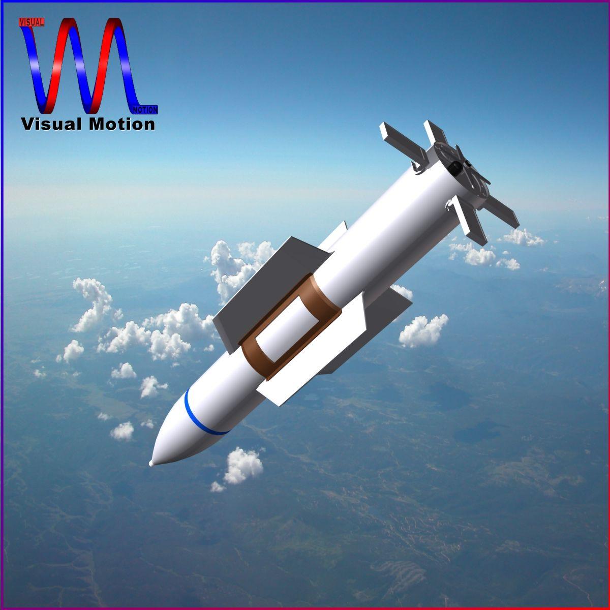 usaf gbu-57 bomb 3d model 3ds dxf cob x obj 152696
