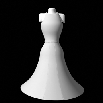 backless kjole 3d model fbx lwo obj andre 97801