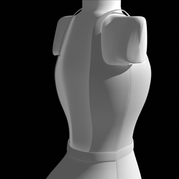 backless dress 3d model fbx lwo obj other 97803