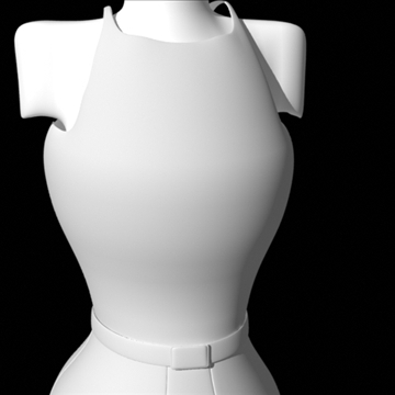 backless dress 3d model fbx lwo obj other 97804