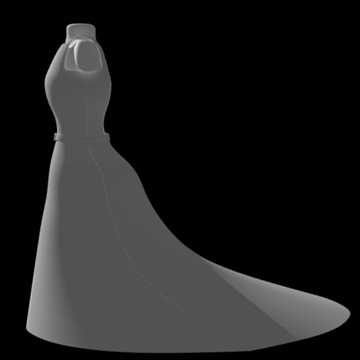 backless dress 3d model fbx lwo obj other 97806