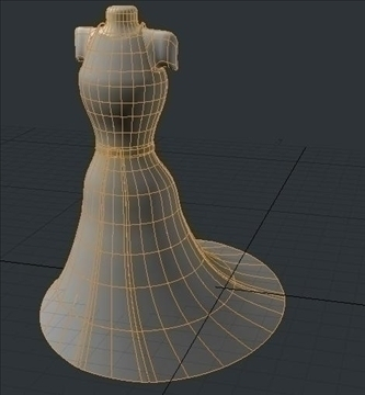 backless dress 3d model fbx lwo obj other 97808
