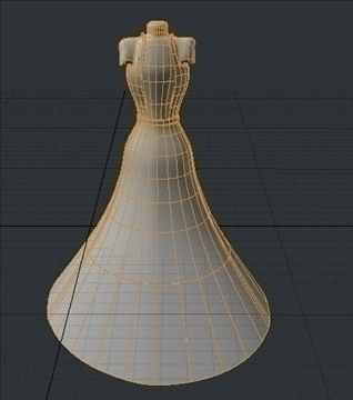 backless dress 3d model fbx lwo obj other 97809