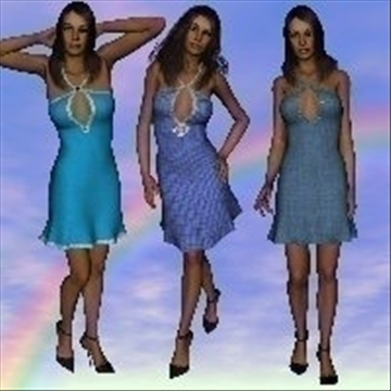 magicks blue lace dresses 3d model jpeg jpg other 87978