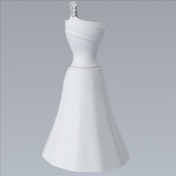 one shoulder dress 3d model fbx lwo other obj 98250