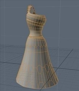 one shoulder dress 3d model fbx lwo other obj 98256