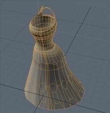 one shoulder dress 3d model fbx lwo other obj 98257