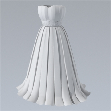 pleated skirt dress 3d model fbx lwo other obj 97810