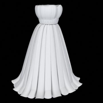pleated skirt dress 3d model fbx lwo other obj 97811