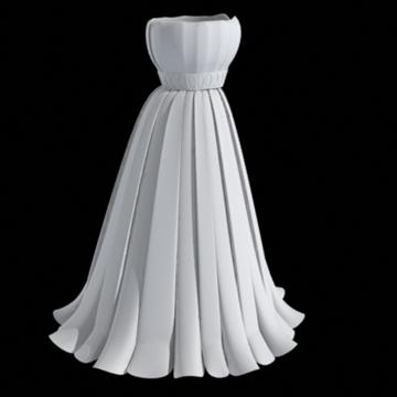 pleated skirt dress 3d model fbx lwo other obj 97812