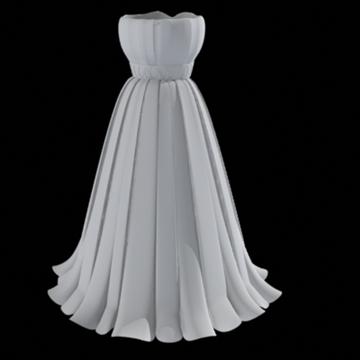 pleated skirt dress 3d model fbx lwo other obj 97813