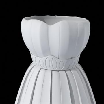pleated skirt dress 3d model fbx lwo other obj 97815