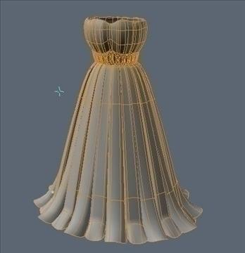 pleated skirt dress 3d model fbx lwo other obj 97816