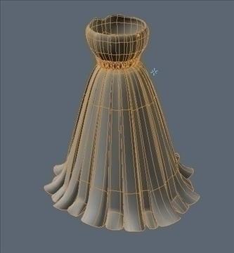 pleated skirt dress 3d model fbx lwo other obj 97817