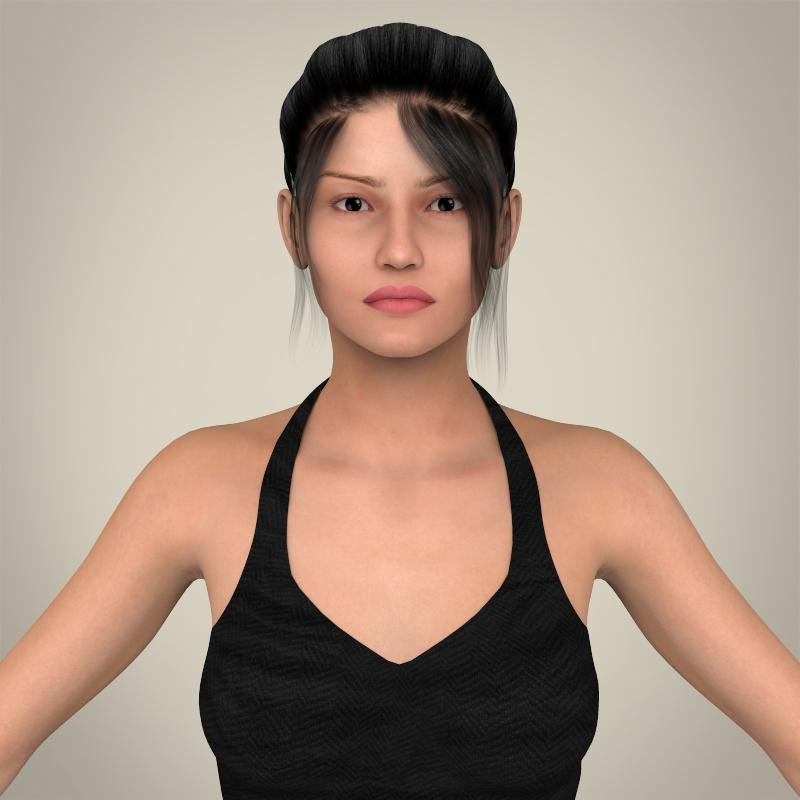 бодит залуу тачаангуй эмэгтэй 3d загвар 3ds max fbx c4d lwo ma mb бүтэц obj 163646