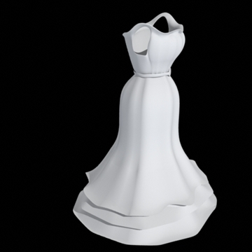 ruffle bottom dress 3d model fbx lwo other obj 98244