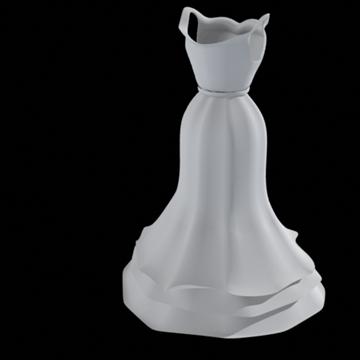ruffle bottom dress 3d model fbx lwo other obj 98245