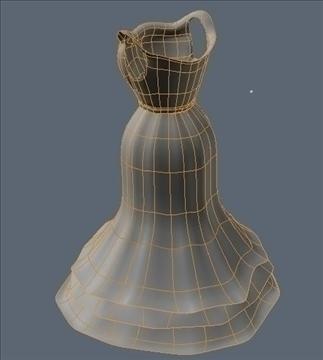 ruffle bottom dress 3d model fbx lwo other obj 98249