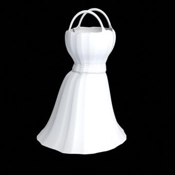 short dress 3d model fbx lwo obj other 98260