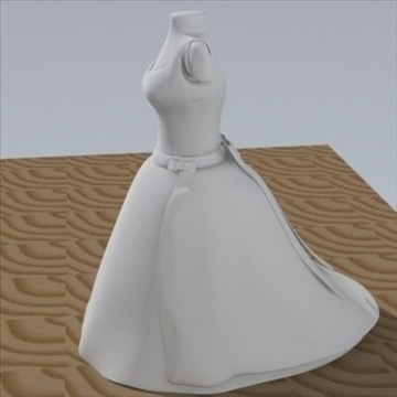 wedding dress 3d model fbx lwo other obj 110368