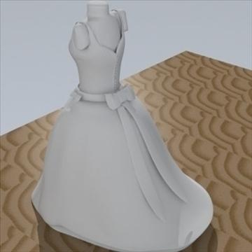 wedding dress 3d model fbx lwo other obj 110369