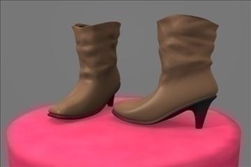 boots womens casual 3d model blend 100808