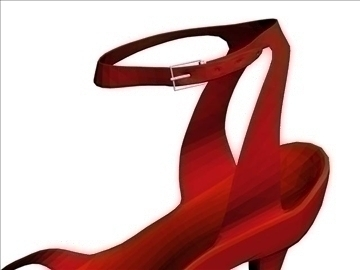 red shoes 3d model max 94824