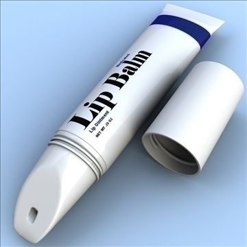 lip balm 3d model 3ds max fbx lwo hrc xsi obj 106285